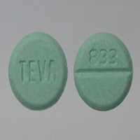 Grey background image of Klonopin 1mg tablet which showing front and back view