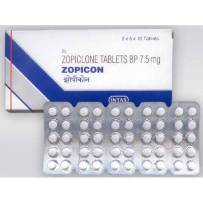 100 tablets pack of Zopiclone tablets bp 7.5mg