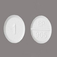 Front and back view of ativan 1 mg tablet