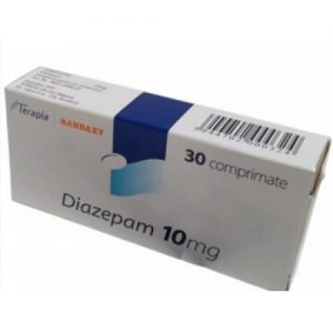 White backgrounded image of Valium 10mg pills cover pack