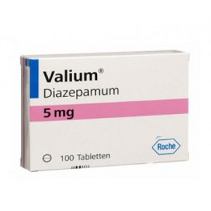 White backgrounded image of Valium 5mg pills cover pack