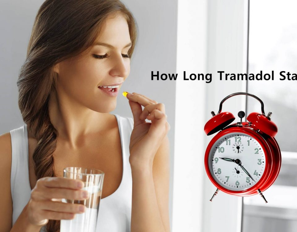 women having tramadol with a glass of water thinking how long does tramadol stay in her system
